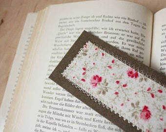 Bookmark vintage flowers