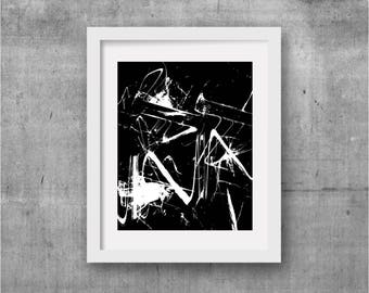 Black Abstract Art, Black and White Art, Contemporary Art, Modern Art, large abstract art, Large Wall Art, Black and White Abstract