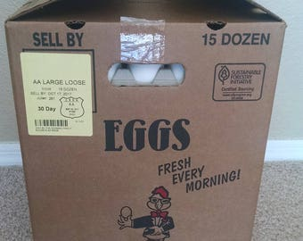 "180/15 dozen - LARGE ""blown"" chicken eggs"