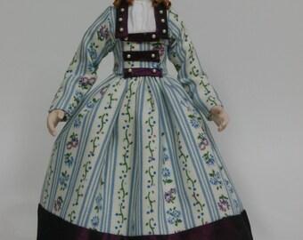 Dolls House Doll PIPER - OOAK Handmade 1/12 scale Porcelain Lady Doll