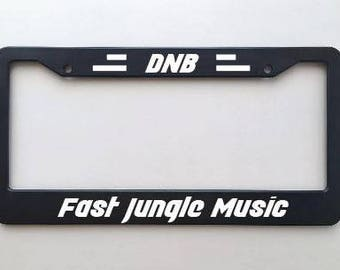 Custom Plate: DNB Junglist - Drum and Bass Fo Life