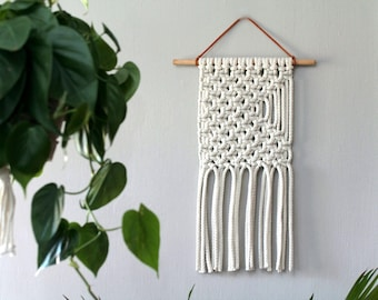 Macrame Bohemian Wall Hanging. Jungalow Decor. Nursery Wall Decor.