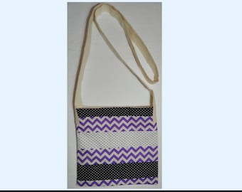 Handmade Cross Body Bag - fully lined, padded, durable & machine washable