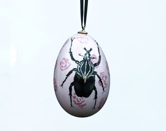 Two Sided Beetle Goose Egg Ornament