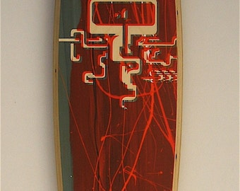 Longboard skateboard  deck jellyfish silkscreen print  no.43\/50