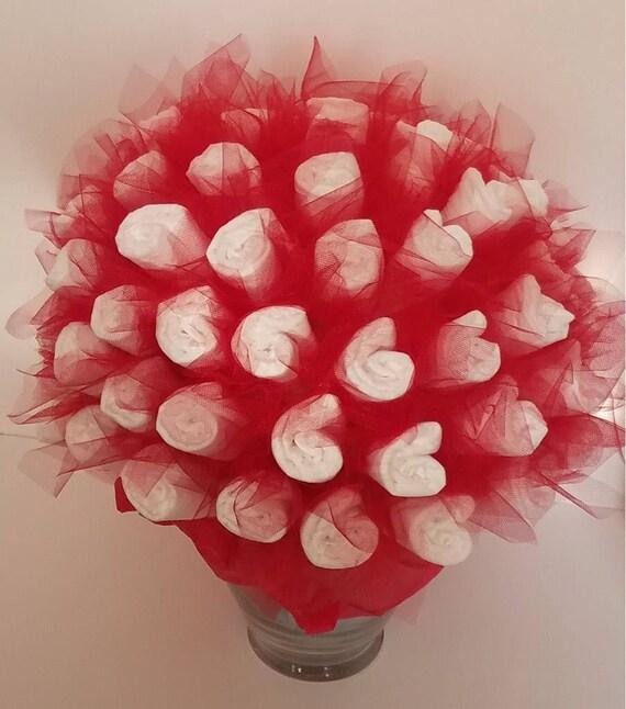Diaper bouquet baby shower decorations baby shower ideas negle Images