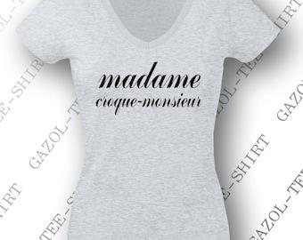 """T-shirt """"Madame croque-monsieur"""" idée cadeau original pour les copines !!"""