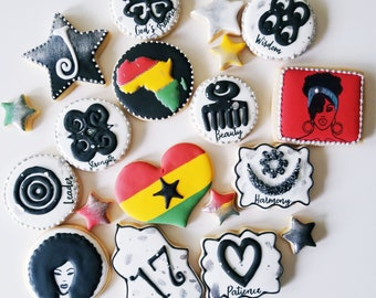 Ethnic Themed Sugar Decorated cookies