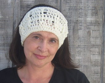CLEARANCE! Cabled crochet headband, headwrap, ear warmer - creme - crochet accessories Winter Fashion