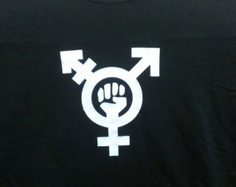 Long Sleeve Trans Feminism Screen Print T-shirt in Mens or Womens Sizes S-3XL