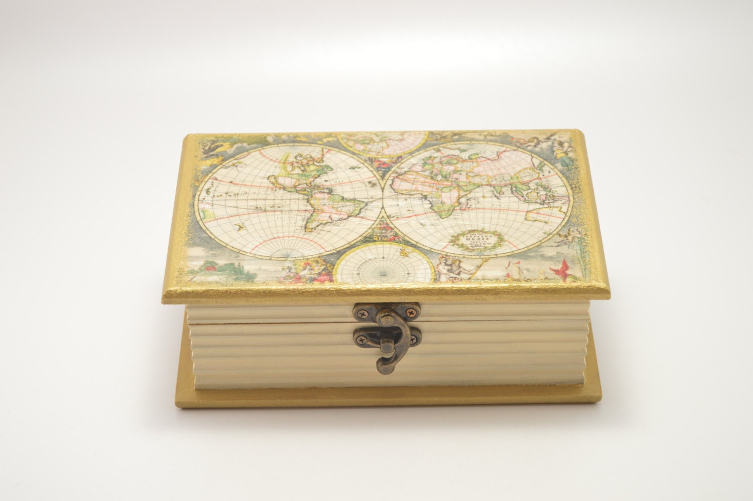Decoupage wooden box jewelry box wooden box home zoom gumiabroncs Image collections