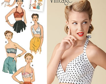 Simplicity Sewing Pattern 1426 Misses' Vintage 1950's Bra Tops
