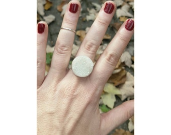 Druzy Crystal Statement Ring