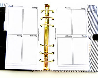 Personal Planner Inserts - Large Vertical Inserts - Week at a Glance Insert - Personal Planner - Planner Inserts