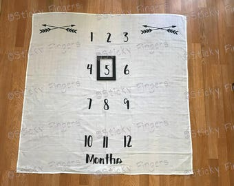 Double Arrow TWIN Milestone Blanket (Personalization Available)
