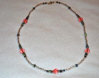 Rose Peac Swarovskii Necklace