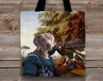 Dog Tote Bag - Weimaraner Tote Bag - Weimaraner Art - Weimaraner  Gifts - Weimaraner   Perfect DOG LOVER Gift for Her Gift for Him