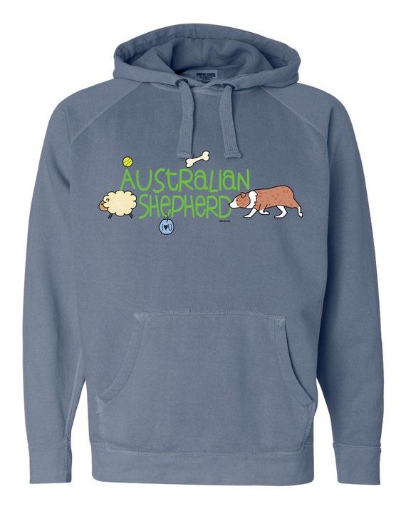 German Shepherd Doodle Garment Dyed Hoodie Sweatshirt M5xF4d