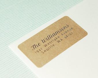 Return Address Label, Custom Address Label, Address Labels, Kraft Address Labels, Wedding Return Address Labels - Design #04