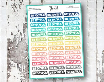 Be Joyful Planner Stickers, Word Sticker, Agenda Planner, Sayings, To Do, Reminder, Word Stickers, Saying Sticker