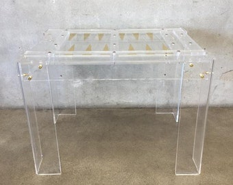 Vintage Lucite Backgammon Table (937ZFP)