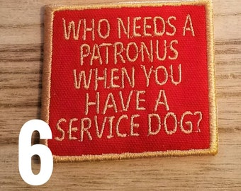 Wizard/Magic Inspired Service Dog Patches