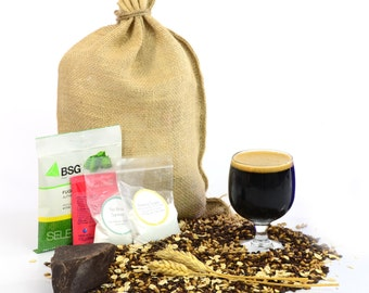 Chocolate Oatmeal Stout One Gallon Beer Home Brewing Recipe Kit - 1 Gallon Small Batch Brewing Ingredient Kit