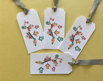 Gift Tags, Tags, Shipping Tags, Birdhouse,