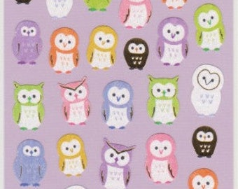 Owl Stickers - Washi Stickers - Japanese Stickers - Reference A5496A5610