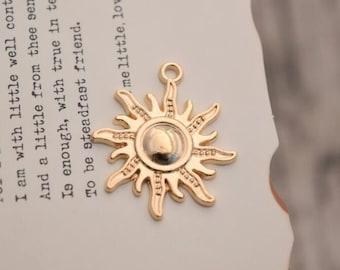 20 sun charms gold sun charm pendants