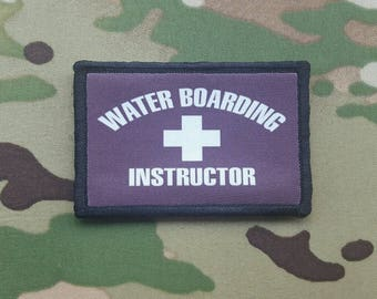 Waterboarding Instructor Morale Patch Multicam Woodland Brown