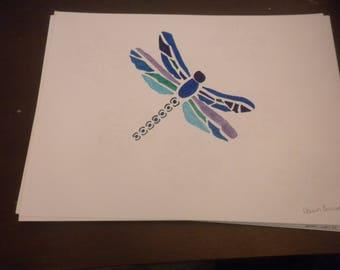 dragon fly drawing