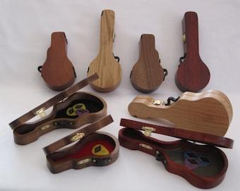 Pick Cases shaped like Guitars, Banjos & Mandolins; Pick Holders for Guitars, Banjos or Mandolins