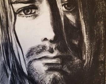 Kurt Cobain (Original Charcoal Drawing)