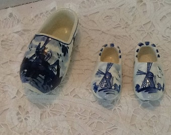 Vintage Delft Shoes from Holland - lovely pottery that is hand painted and a favourite to many collectors,