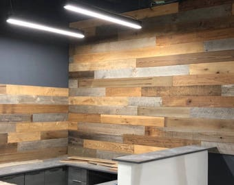 Reclaimed wood paneling - 8.50 per square foot - reclaimed wood wall  - reclaimed wood - wall plank  - reclaimed wall -