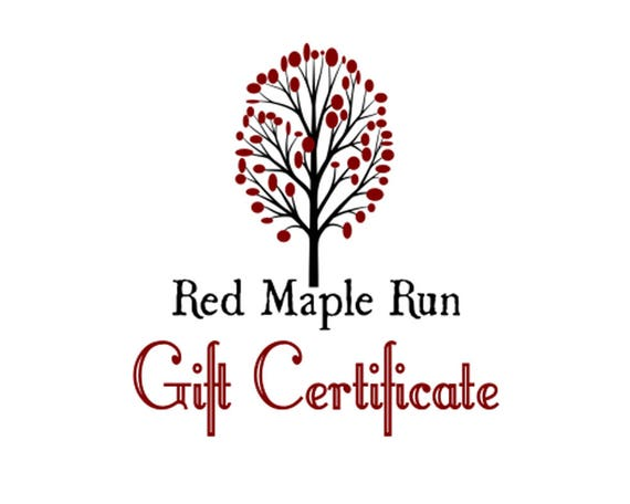 Red Maple Run Gift Certificate
