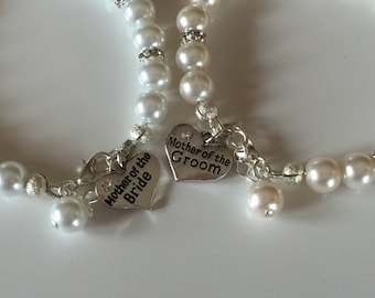 Mother of the bride or mother of the groom bracelet . Mother of the bride gift.  Mother of the groom gift