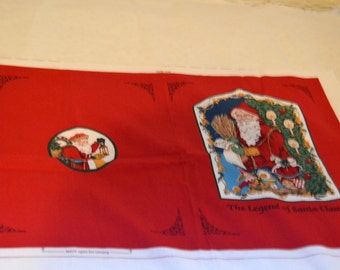 Vintage VIP Cranston Father Christmas the Legend of Santa Claus Cloth Book Panel