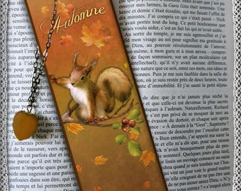 "Plastified bookmark ""Douroux squirrel"""