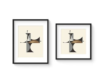 CUBIST no.4 - Giclee Print - 8x10 or 8x8 Format - Mid Century Modern Cubist Modernist Abstract