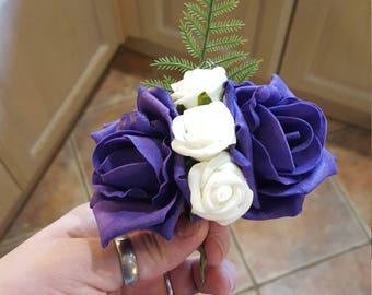 Foam flower pin corsage