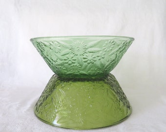 """Indiana Glass, """"Pineapple & Floral"""" Bowls"""