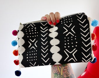 Tribal Pom Clutch