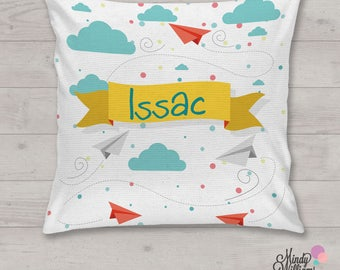 Paper Planes - Personalised cushion