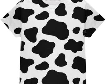 Cow Pattern Halloween Costume All Over Youth T Shirt
