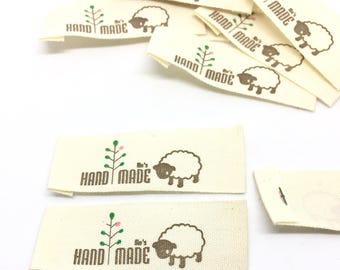 25 Label, Handmade, sheep