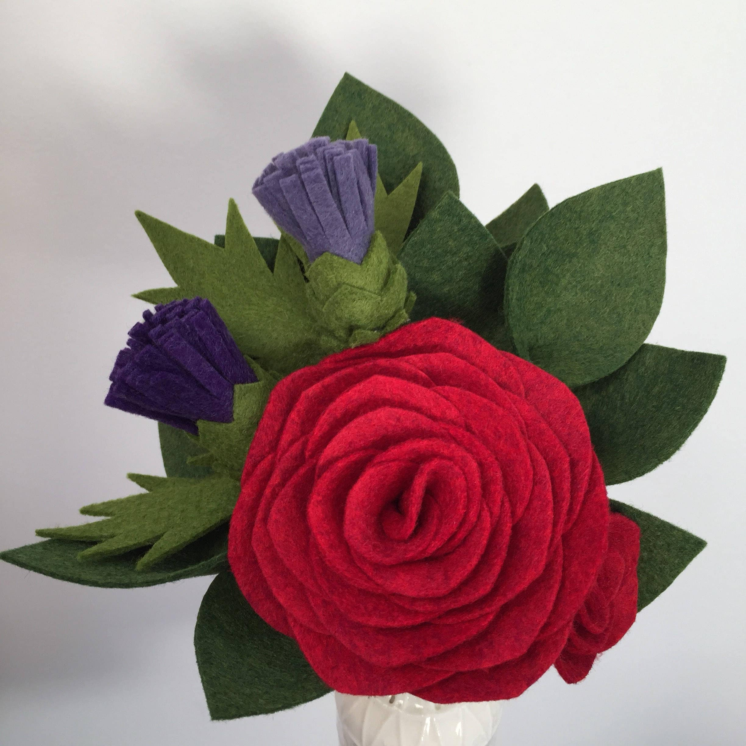 Scottish felt flower gift bouquet february bouquet of the month izmirmasajfo