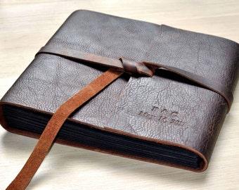 Photo Album, Leather Scrapbook Album,Wedding photo Album,Wedding Guest Book,Scrapbook album,Christmas gift,Anniversary gift,Free stamp