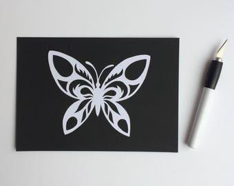 Monochrome Butterfly Papercut *handcut*